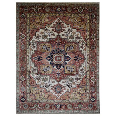 One-of-a-Kind Etchison Oriental Hand Woven Wool Red/Beige Area Rug Rug Size: Rectangle 9 x 1110