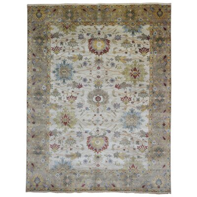One-of-a-Kind Maribel Oriental Hand Woven Wool Beige/Brown Area Rug