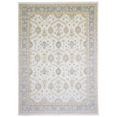 One-of-a-Kind Maribel Oriental Hand Woven Wool Beige/Blue Area Rug