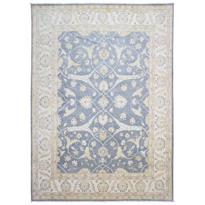 One-of-a-Kind Maribel Oriental Hand Woven Wool Blue/Beige Area Rug