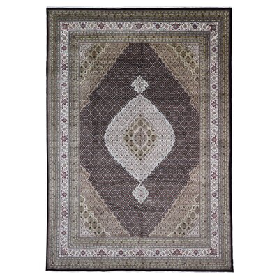 One-of-a-Kind Liddle Oriental Hand Woven Wool Olive/Beige Area Rug
