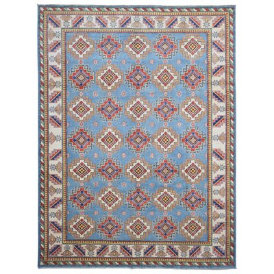One-of-a-Kind Etchison Oriental Hand Woven Wool Blue/Red Area Rug