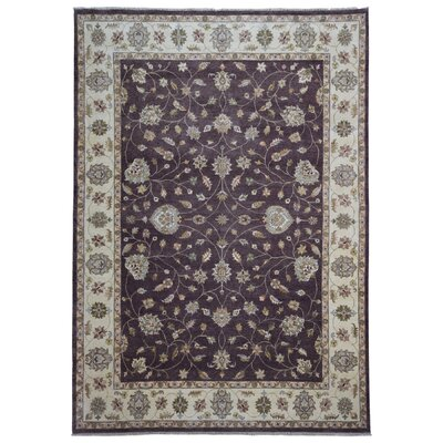 One-of-a-Kind Maribel Oriental Hand Woven Wool Brown/Beige Area Rug