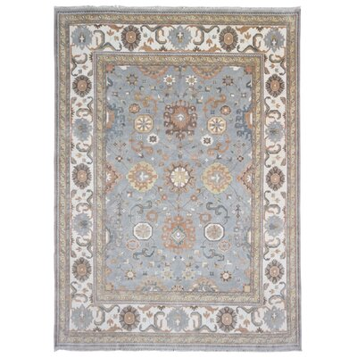 One-of-a-Kind Maribel Oriental Hand Woven Wool Gray/Beige Area Rug