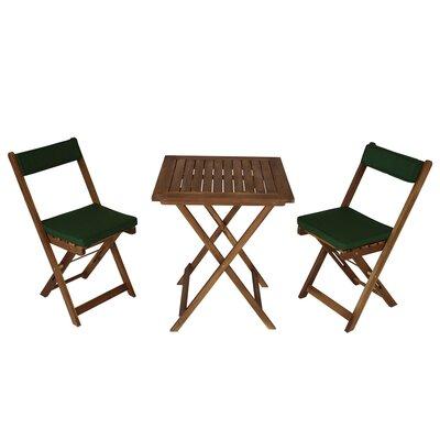 2-Sitzer Balkonset Cowan mit Polster | Garten > Balkon > Balkon-Sets | Naturalbrown | Massivholz - Rattan | Lynton Garden