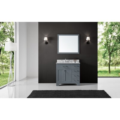 Cassel 36 Single Bathroom Vanity Set with Mirror Base Finish: Cashmere Gray