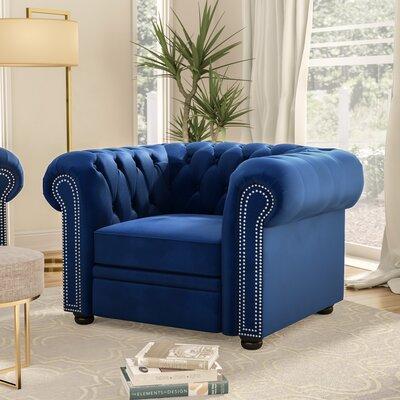 Heathfield Armchair Upholstery: Navy Blue