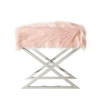 Evonne X-Leg Ottoman Upholstery: Rose