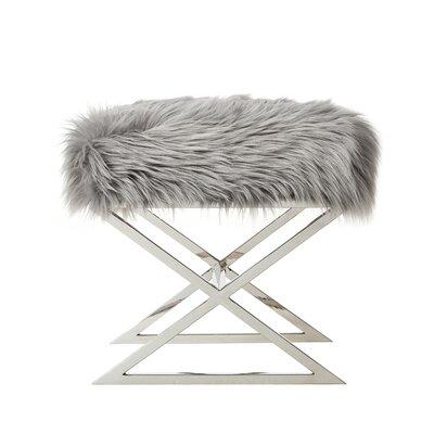 Evonne Ottoman Upholstery: Gray