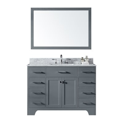 Cassel 48 Single Bathroom Vanity Set with Mirror Base Finish: Cashmere Gray