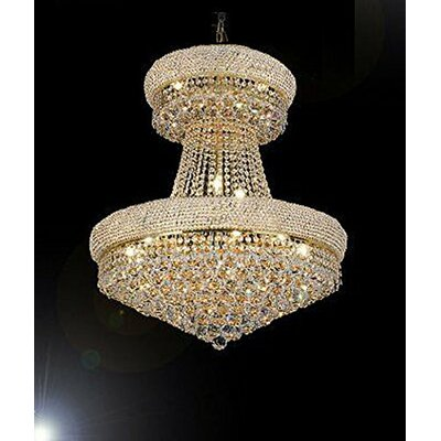 Vaughn 24-Light Empire Chandelier Finish: Gold