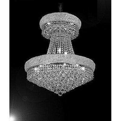 Vaughn 24-Light Empire Chandelier Finish: Silver