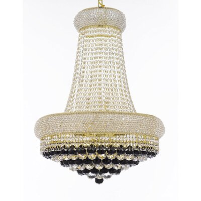 Vaughn 15-Light Empire Chandelier Finish: Gold
