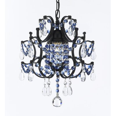 Jimerson Wrought Iron Plug 1-Light Mini Pendant Finish: Blue