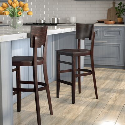 Featherston 30 Bar Stool Finish: Walnut