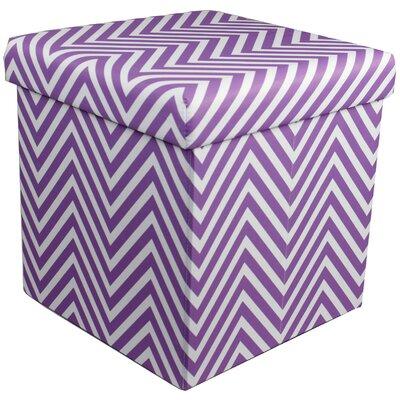 Mccann Storage Ottoman (Set of 12) Upholstery : Purple