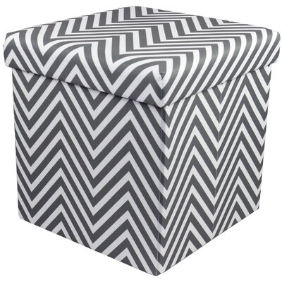 Mccann Foldable/Collapsible Chevron Cube Storage Ottoman with Lid Cover (Set of 12) Upholstery : Gray
