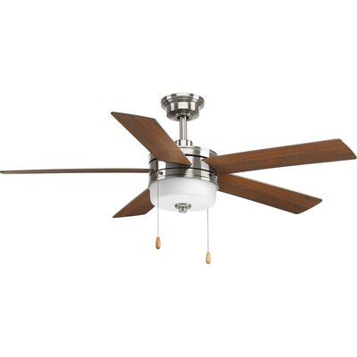 54 Van Nest 5 Blade LED Ceiling Fan Motor Finish: Chrome/White