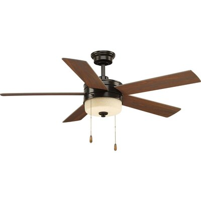 54 Van Nest 5 Blade LED Ceiling Fan Motor Finish: Black/Beige