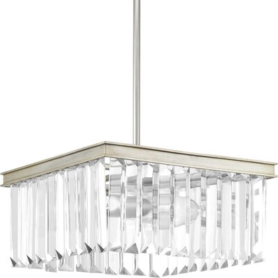 Eggar 2-Light Semi Flush Mount Fixture Finish: Silver Ridge