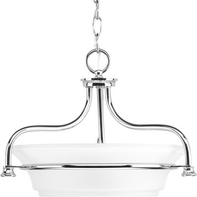 Perot 2-Light Semi Flush Mount Fixture Finish: Polished Chrome