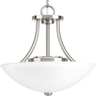 Charlottesville 1-Light Semi Flush Mount Fixture Finish: Brushed Nickel