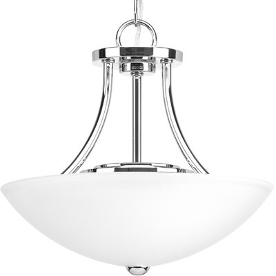 Charlottesville 1-Light Semi Flush Mount Fixture Finish: Polished Chrome