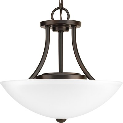 Charlottesville 1-Light Semi Flush Mount Fixture Finish: Antique Bronze
