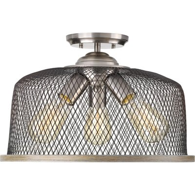 Murillo 3-Light Semi Flush Mount Fixture Color: Brushed Nickel