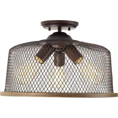 Murillo 3-Light Semi Flush Mount Fixture Color: Antique Bronze