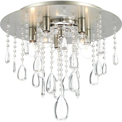 Brigida 5-Light Flush Mount Fixture Finish: Silver Ridge