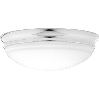 Mccully 1-Light LED Flush Mount Fixture Finish: Polished Chrome, Size: 4.50 H x 13.50 W x 13.50 D