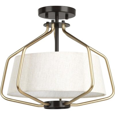 Geib 2-Light Semi Flush Mount Fixture Finish: Antique Bronze