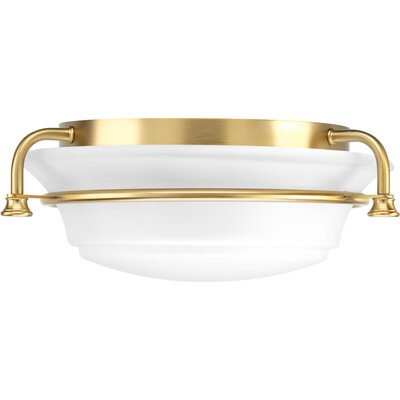 Perot 2-Light Flush Mount Fixture Finish: Brushed Bronze