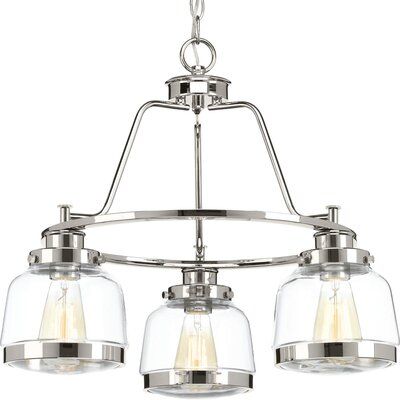Murguia 3-Light Mini Chandelier Finish: Polished Nickel
