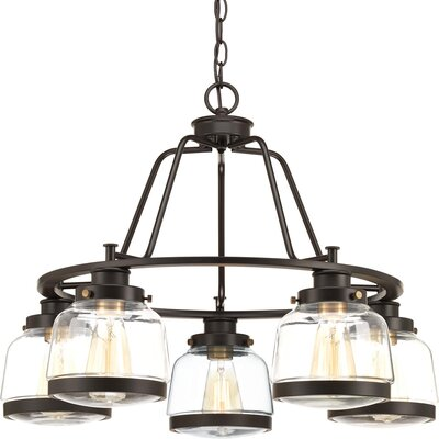 Murguia 5-Light Candle-Style Chandelier Finish: Antique Bronze