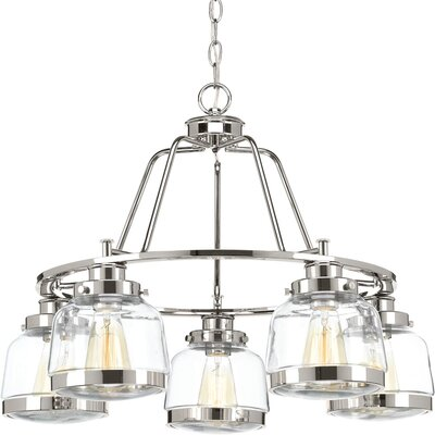 Murguia 5-Light Candle-Style Chandelier Finish: Polished Nickel