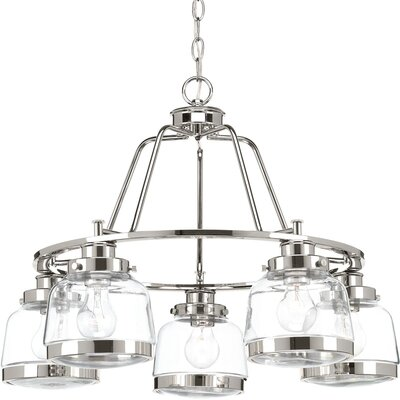 Murguia 5-Light Candle-Style Chandelier Color: Polished Nickel
