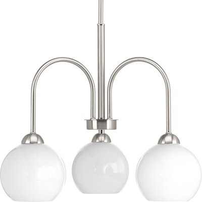 Jaina 3-Light Mini Chandelier Finish: Brushed Nickel