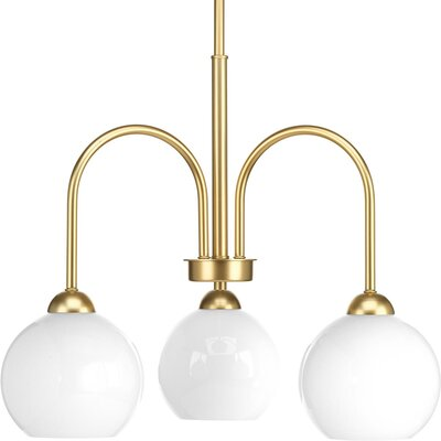 Jaina 3-Light Mini Chandelier Finish: Vintage Gold