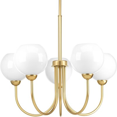 Jaina 5-Light Candle-Style Chandelier Finish: Vintage Gold