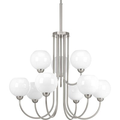 Jaina 9-Light Candle-Style Chandelier Finish: Brushed Nickel