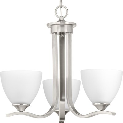 Van Reipen 3-Light Mini Chandelier Finish: Brushed Nickel