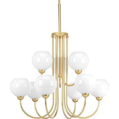 Jaina 9-Light Candle-Style Chandelier Finish: Vintage Gold