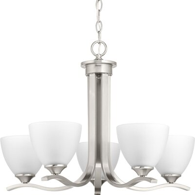 Van Reipen 5-Light Candle-Style Chandelier Finish: Brushed Nickel