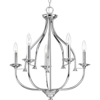 Perot 5-Light Candle-Style Chandelier Finish: Polished Chrome