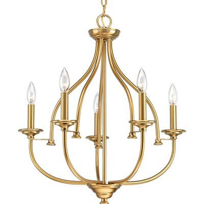 Perot 5-Light Candle-Style Chandelier Finish: Brushed Bronze
