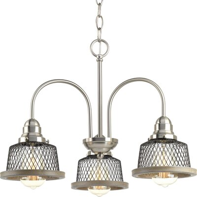Murillo 3-Light Mini Chandelier Color: Brushed Nickel