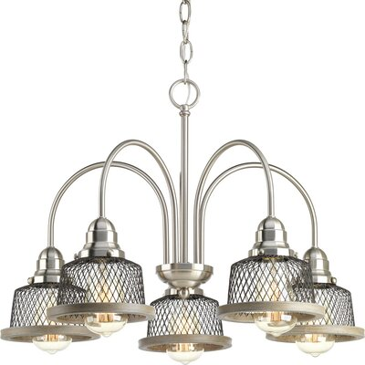 Murillo 5-Light Candle-Style Chandelier Color: Brushed Nickel