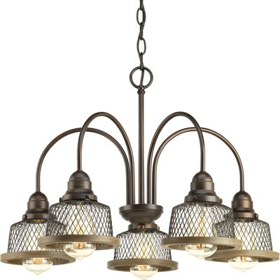 Murillo 5-Light Candle-Style Chandelier Color: Antique Bronze